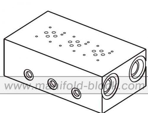 Aluminum Hydraulic Manifold, D03 Low Flow Manifold ABM6PL