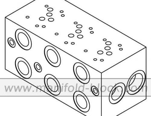 D05 Hydraulic Manifold Block, Extra High Flow Manifold BM10PX