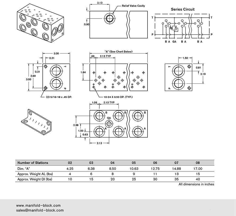 Hydraulic Manifold D03, BM6SN Installation