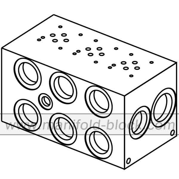 Hydraulic Manifold D03, Parallel Circuit High Flow, BM6PH Series