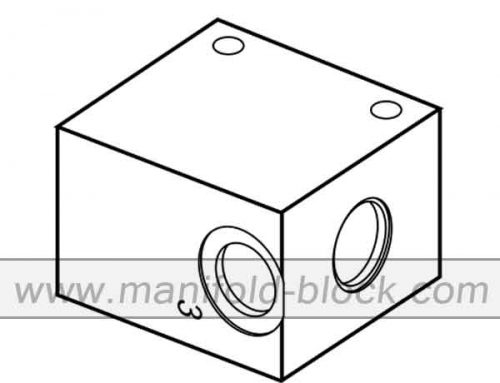 T-11A Cartridge Valve Body, Hydraulic Cartridge Block CB2