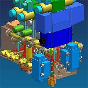 Hydraulic-Valve-Block-Of-Three-Dimensional-Parametric-Design