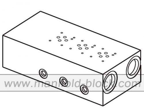 Hydraulic Valve Manifold, D03 Normal Flow Manifold ABM6PNB